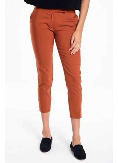 Tiffany&Tomato Dar Paça Cepli Orta Bel Pantolon Kiremit